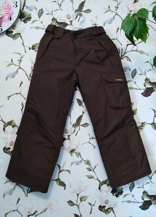 Шикарные мембранные зимние термо штаны лыжные wedze 134 140 рост