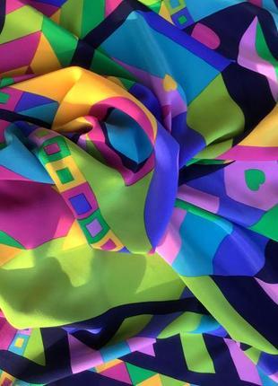 Новый яркий шелковый платок от sergio
