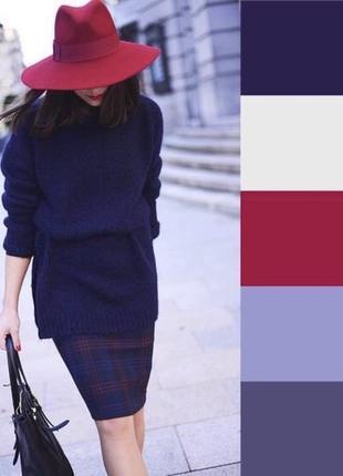 Стильная широкополая шляпа бордо