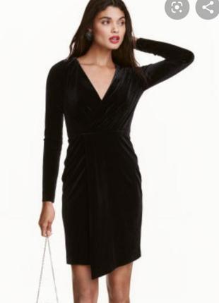 Велюровое платье h&m