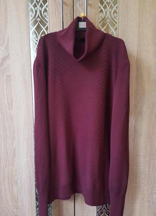 Базовый винный /бордовый гольф свитер водолазка хл