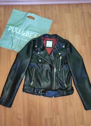 Косуха, кожанка, куртка с эко-кожи pull&bear