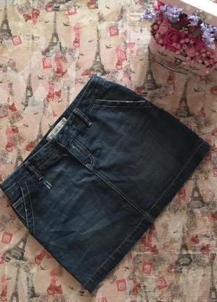 Джинсовая мини юбка от gap рр l