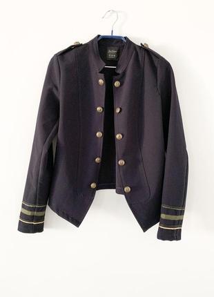 Пиджак синий, двубортный жакет