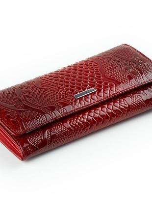 Женский кошелек karya 1071-019 кожаный красный