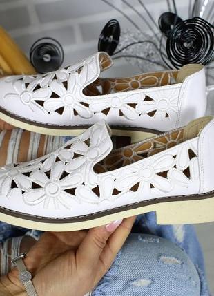 Туфли слипоны на низком ходу с перфорацией