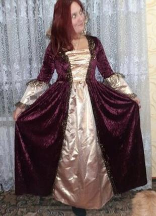 Карнавальное платье королева