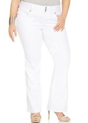 Стильные белые джинсы №34