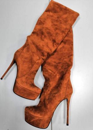 Зимние сапоги на каблуке dumonde