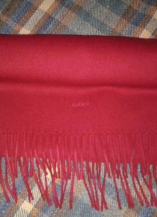 Шерстяной шарф gant, полотно, большой