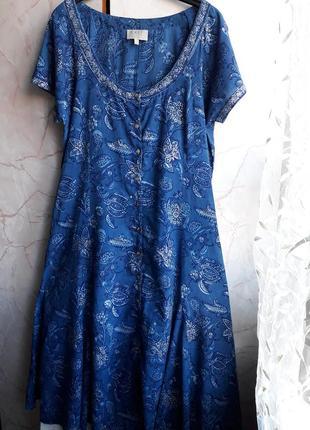 100%коттон! комфортное платье.легкое.индия