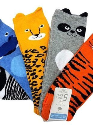 Разноцветные носки с животными на мальчика, primark