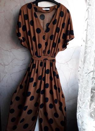 Красивое платье в горошек.размер xs