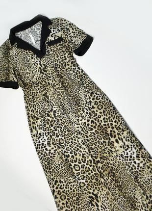 Стильное тигровое платье ниже колен вискоза asos