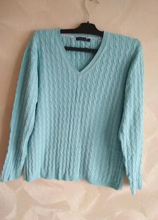 Бирюзовый джемпер, свитер darling