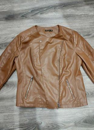 Куртка демисезонная кожзам