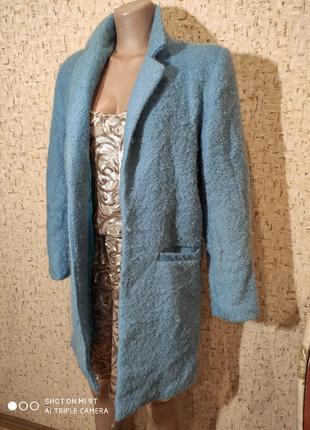 Стильное шерстяное пальто 44 размер