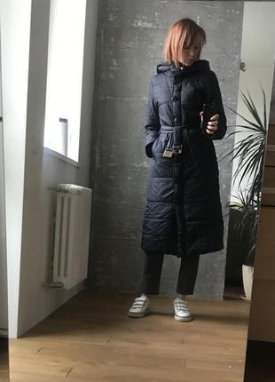 Куртка удлиненная, чёрное пальто тиффи