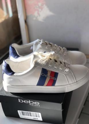 Белые кеды бренд bebe оригинал