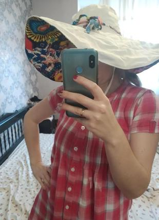 Шляпа котон с широкими полями
