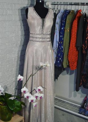 Вечернее блестящее платье на выпускной