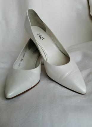 Деловые женские кожаные туфли, hogl, австрия, размер 38,5