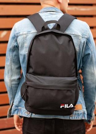 Рюкзак fila black, фила чёрный 42х30см