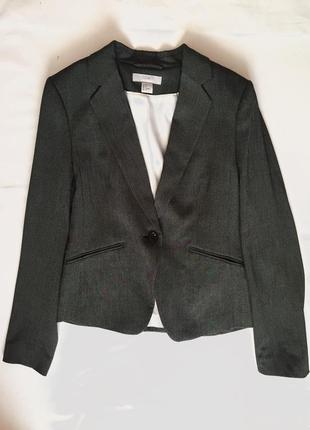 Шикарный деловой пиджак с принтом «гусиная лапка» от h&m