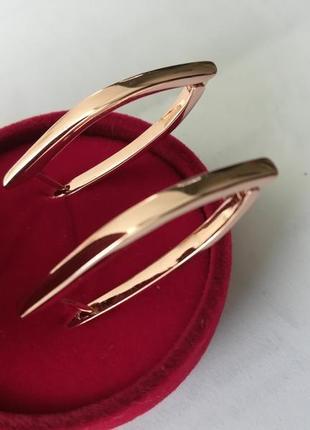 Серьги золотые стрелки большие