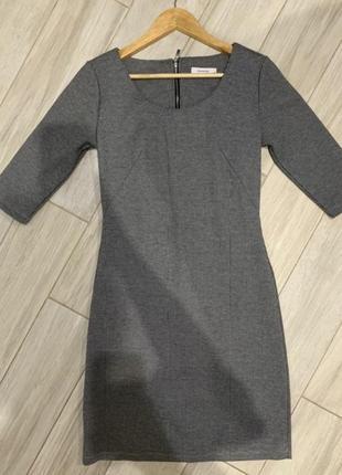 Платье клетчатое футляр карандаш