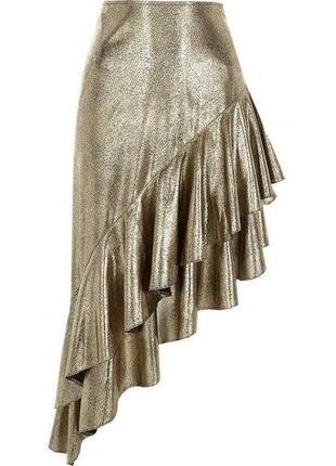 Шикарная золотая юбка асимметрия 🔥