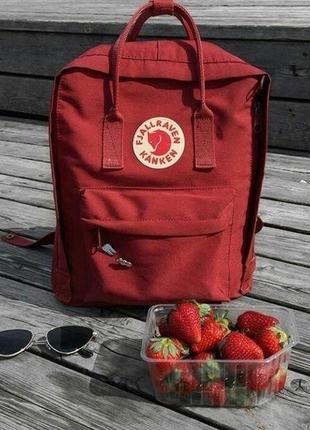 Рюкзак fjallraven kanken red, красный 16л (35х25см)