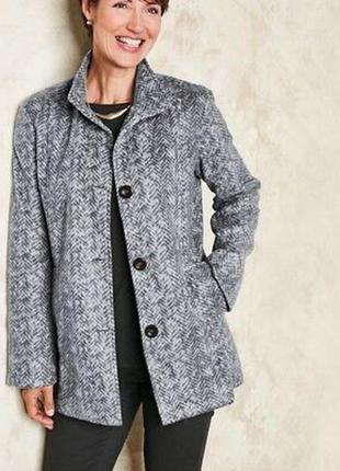 Флисовое демисезонное легкое пальто с карманами anne de lancay большой размер этикетка