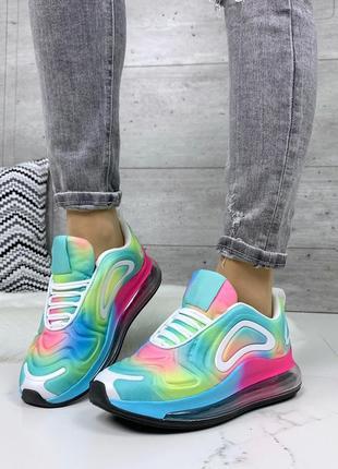 Стильные кроссовки с радужной расцветкой 🌈
