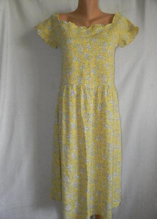 Новое натуральное легкое летнее платье next