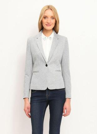 Брендовый серый пиджак жакет блейзер с карманами f&f вьетнам вискоза