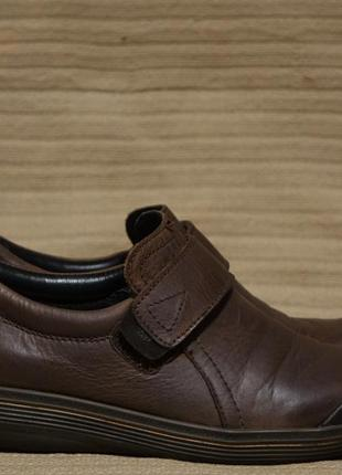 Капитальные комбинированные темно-коричневые кожаные полуботинки wolky голландия 40 р.