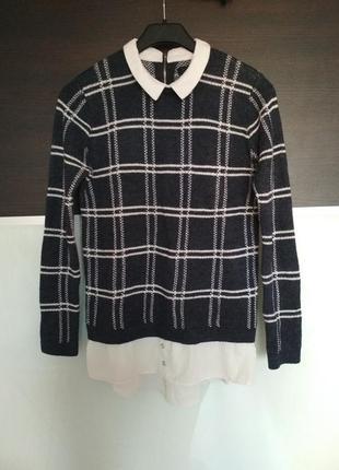 Джемпер свитер рубашка обманка atmosphere