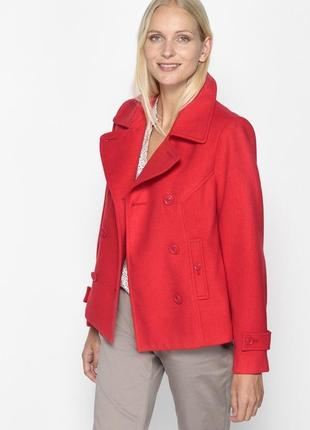 Брендовый красный плащ тренч пальто с карманами m&co турция коттон утеплитель этикетка