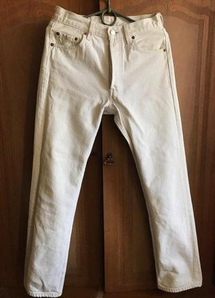 Белые классические винтажные levis 501