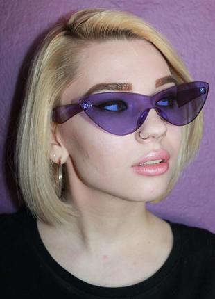 Красочные цветные прозрачные солцезащитные очки cat eye shadesfield без оправы