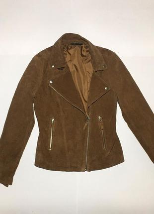 Женская косуха , кожанка , кожаная куртка esmara