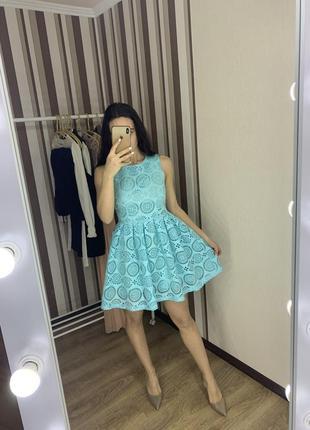 Платье а силует с перфорацией летнее романтичное miu miu