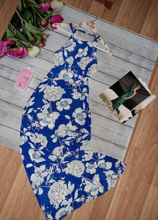 Шикарное макси платье в цветы