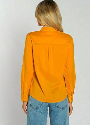 Мандариновая коттоновая рубашка