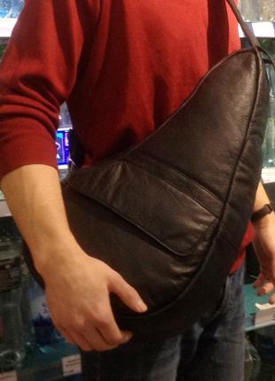 Большая мужская сумка (рюкзак) натуральная кожа
