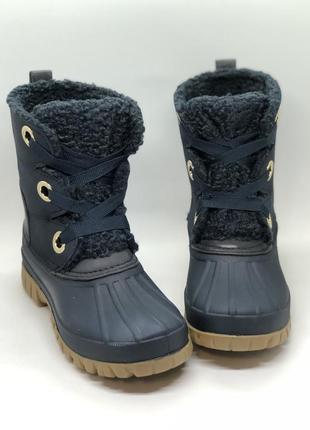 Дакбуты, зимние синие ботинки снегоходы tommy hilfiger оригинал