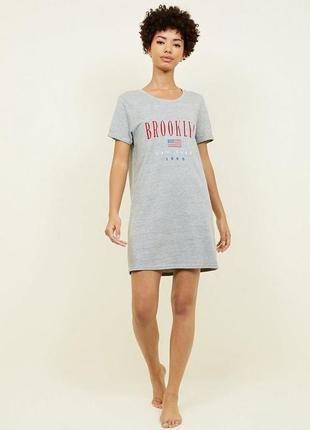 New look. серое платье футболка размер 44-48 новая.