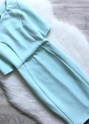 Салатовое мятное ментоловое платье миди футляр карандаш dorothy perkins