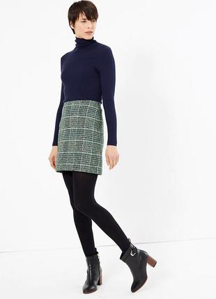 Брендовая юбка на молнии marks & spencer collection шри ланка коттон акрил этикетка